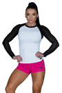 Long sleeve Mesh White